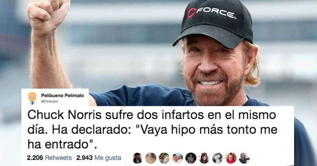 Chuck Norris sobrevive a dos infartos en menos de una hora y en Twitter empieza el cachondeo