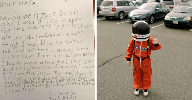 Este niño de 9 años solicitó trabajo en la NASA y le respondieron