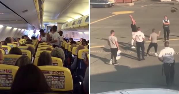 Pasajeros borrachos pelean con la policía después de ser expulsados de un avión con destino a Ibiza