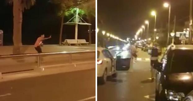 Así fue abatido a tiros uno de los terroristas en Cambrils (Vídeo)