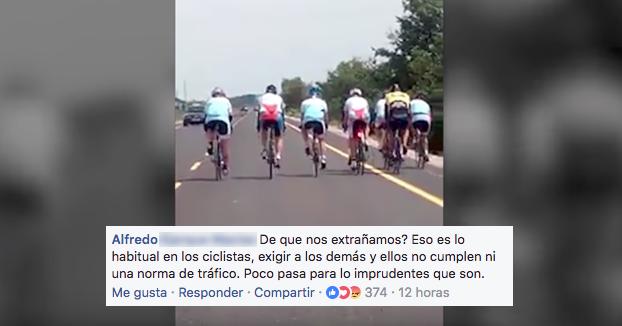 El vídeo de un grupo de ciclistas que indigna a todos los conductores
