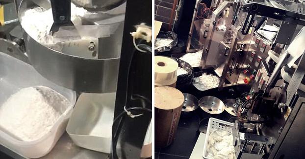 La policía brasileña descubre tres máquinas de envasado capaces de llenar 150.000 bolsitas de cocaína al día