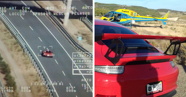 Pegasus caza a un Porsche 911 GT3 RS circulando a 245 km/h por la R-4 de Madrid