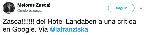 La genial respuesta del Hotel Landaben de Pamplona a una crítica de un usuario en Google