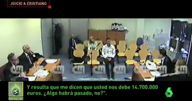 Se filtra vídeo de la declaración de Cristiano Ronaldo ante la jueza