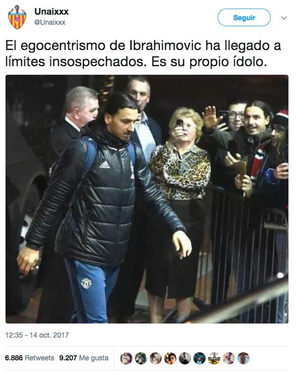 El egocentrismo de Ibrahimovic ha llegado a límites insospechados. Es su propio ídolo