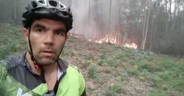 Vídeo grabado por un ciclista en Oleiros, A Coruña ayer a las 19:00. Indignante
