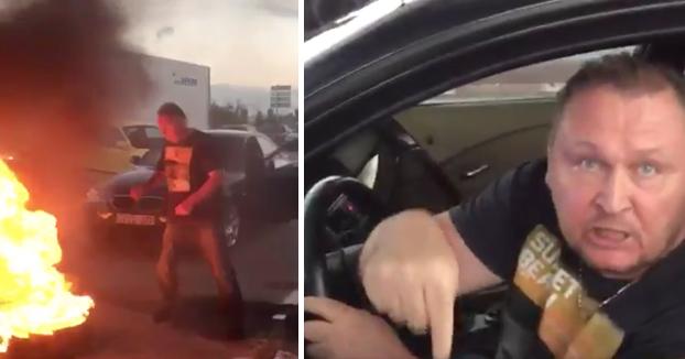Este ciudadano ruso cabreado avisa a los piquetes de Barcelona (Vídeo)