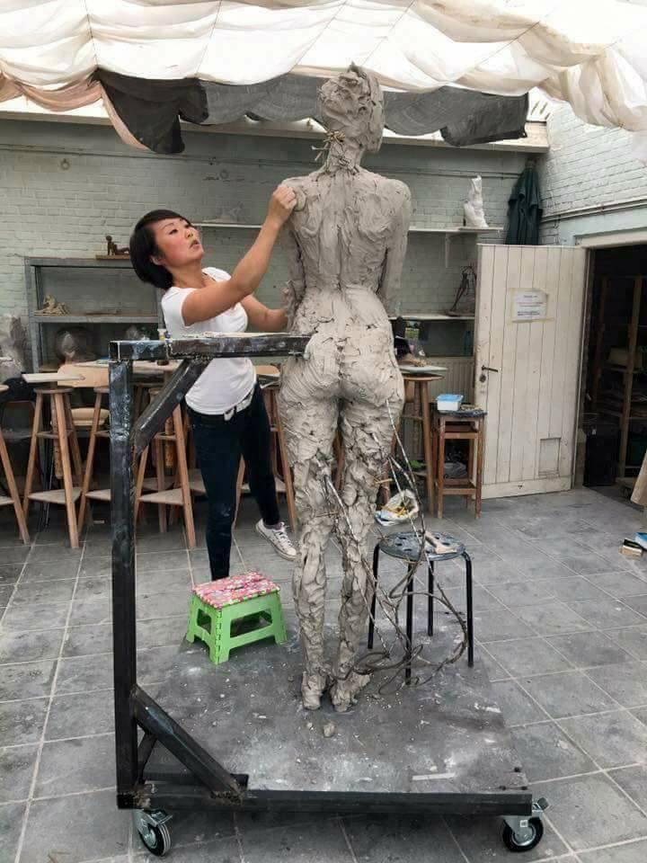 La belleza del arte. Una escultura impecable