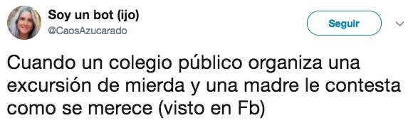 Un colegio de Málaga organiza una excursión de mierda y una madre le contesta como se merece
