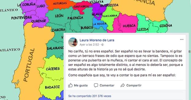''No cariño, tú no eres español''. El poderoso mensaje de una malagueña llamada Laura