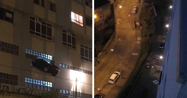 Una conductora de A Coruña choca contra el muro de su garaje y queda a punto de precipitarse a la vía