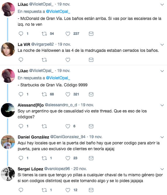Dónde mear en Madrid gratis. Posiblemente el hilo de Twitter más útil para madrileños y turistas