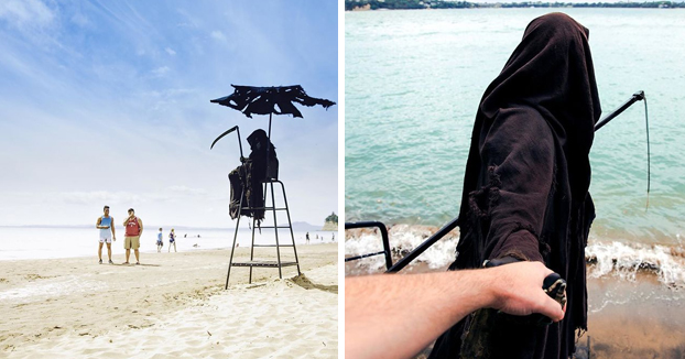 La cuenta de Instagram de la Muerte en la playa es oro puro