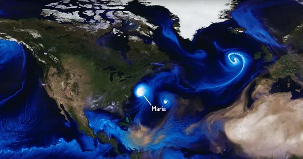 La NASA simula todos los huracanes de 2017 en dos minutos