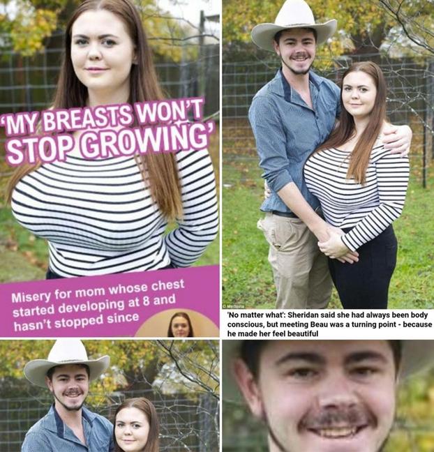 ''Mis pechos no paran de crecer'' Al novio se le ve preocupado...