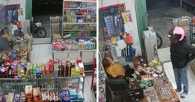El dueño de la tienda consiguió dormir profundamente durante todo el robo
