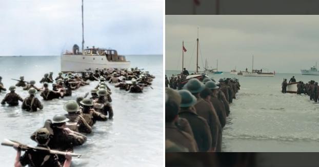 Dunkerque vs. Archivos de guerra: El montaje que compara la película con imágenes reales del conflicto