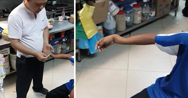 En cuestión de segundos le arregla una fractura en el antebrazo a un niño de 11 años