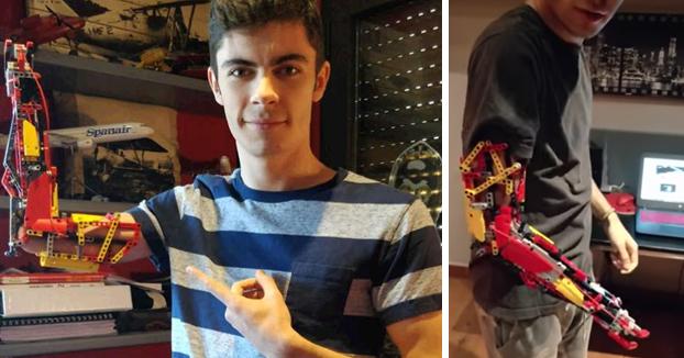Un chico andorrano usa Lego para fabricarse una prótesis que le permite agarrar objetos