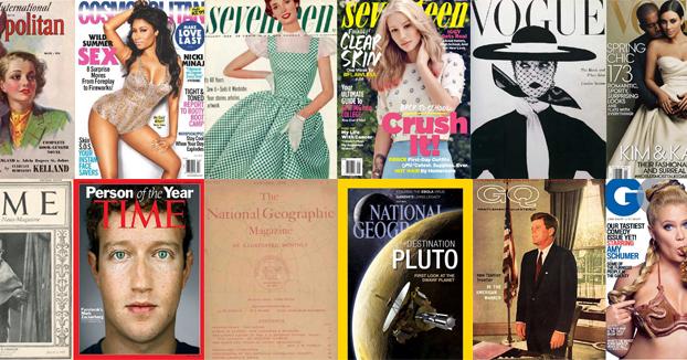 La evolución de las portadas de revistas