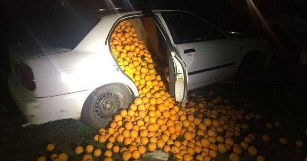 Detienen a cinco personas con 4.000 kilos de naranjas en un coche y alegan que son ''para consumo propio''