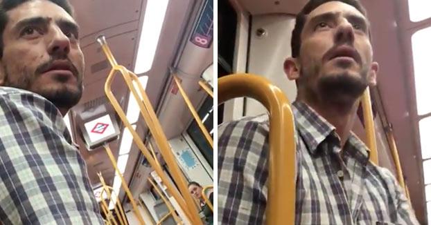 Detenido un hombre por acosar a dos menores en el metro de Madrid. Vídeo del momento