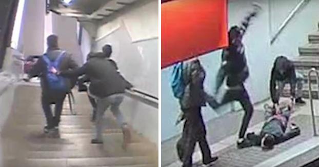 Detenido por esta brutal agresión en el metro de Barcelona