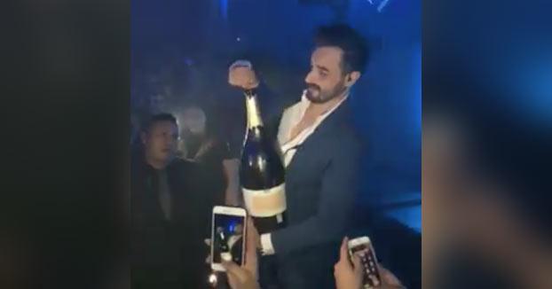 Se le cae al suelo una botella de Champán de 34.000€ al abrirla en un club de Ibiza