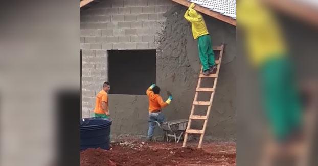 A falta de medios, buena es la puntería para poner cemento