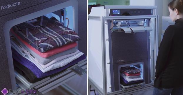 FoldiMate, la máquina que dobla la ropa en segundos. Sale a la venta en 2019