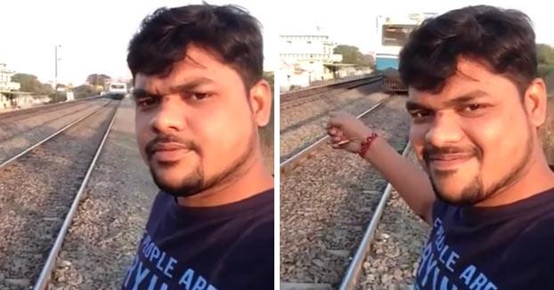 Es arrollado por un tren cuando intentaba hacerse un selfie con él