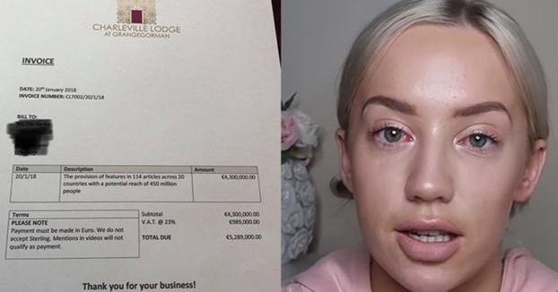 Un hotel le envía una factura de más de 5 millones de euros a la influencer que intentó alojarse gratis