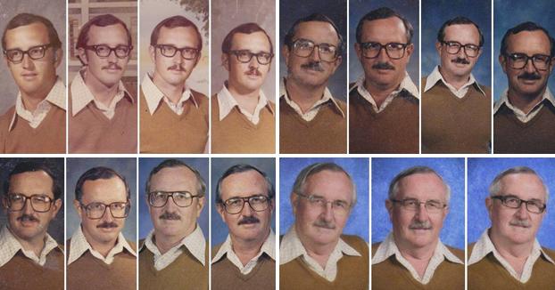 Este profesor ha utilizado la misma ropa para su foto del anuario durante 40 años