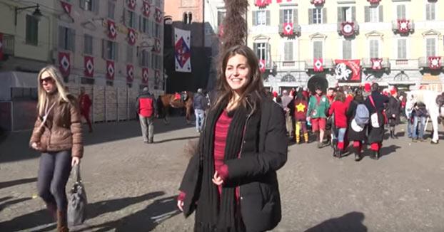 Silvia nos enseña el carnaval de Ivrea y la tradicional Batalla de las Naranjas