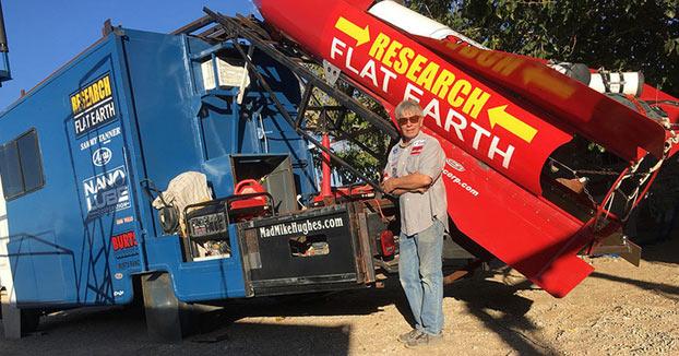 Un hombre volará al espacio en un cohete casero para probar que la Tierra es plana