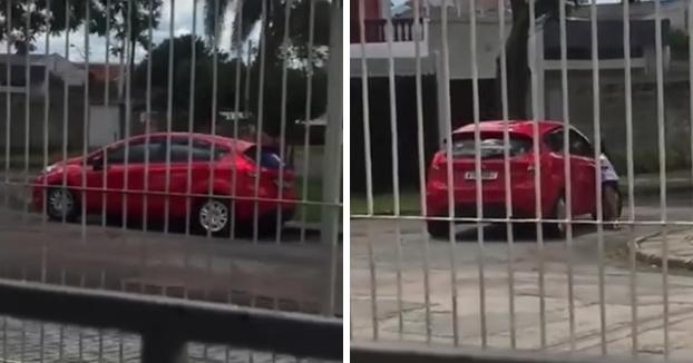 Una mujer abandona a su hija de 5 años en la calle pese a los gritos y acelera su coche