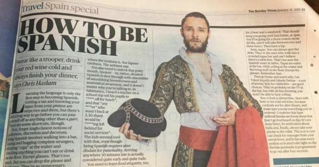 Ser español, según 'The Times': ''Gritón, maleducado, desagradecido e impuntual''
