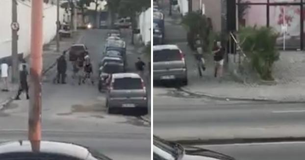 Un chaval corre para escapar de sus agresores y es atropellado brutalmente