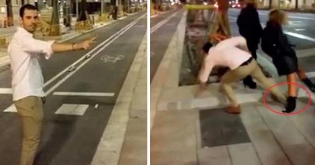 El joven que apareció en un vídeo dándole una patada a una mujer en Barcelona paga una indemnización de 60.000 euros