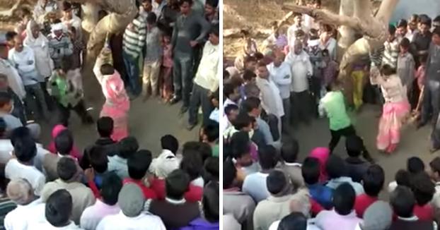 Una mujer india azotada por ir a una boda sin permiso de su marido