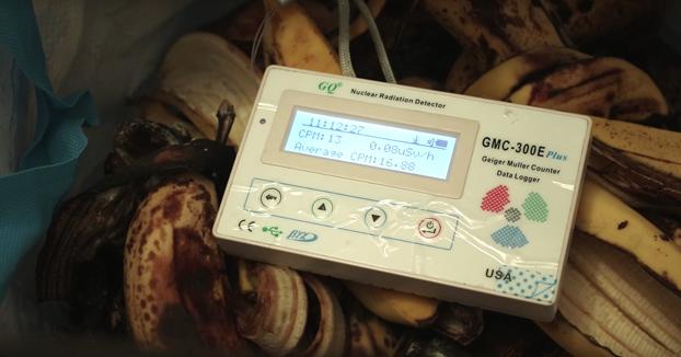 ¿Cuánta radiación tienen los plátanos?