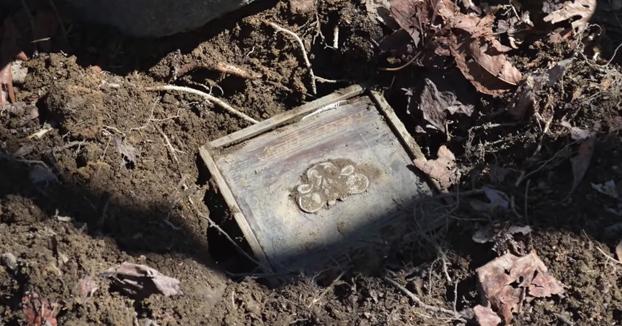 Encuentra un tesoro enterrado y se lleva una gran sorpresa al ver lo que hay en su interior