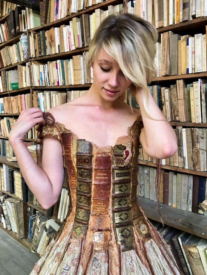 Impresionantes los vestidos que ha creado la diseñadora francesa Sylvie Facon