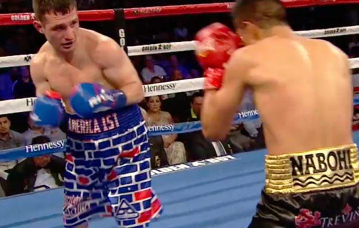 Un boxeador mexicano le da una paliza a un estadounidense que salió con un pantalón decorado con un muro