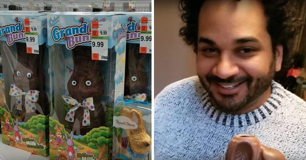 Papi, este conejito de Pascua sabe un poco raro, ¿no?