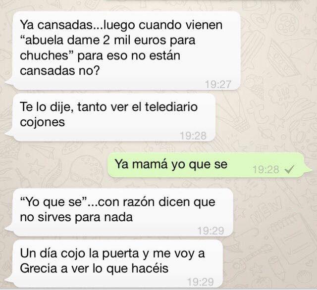 Historia de España: Chat de WhatsApp entre doña Sofía y Felipe tras el Queengate