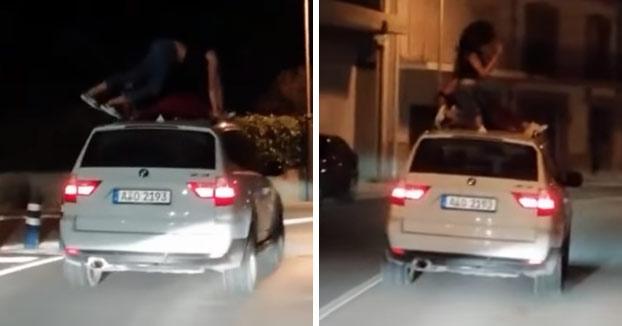 Identificadas las chicas que aparecen en un vídeo bailando encima de un coche en marcha en Jávea