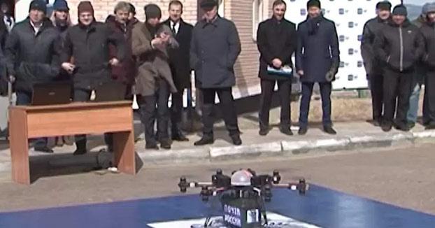 Así fue el vuelo inaugural del primer dron del servicio postal ruso