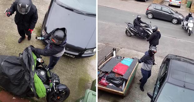 Graba desde la ventana cómo le intentan robar la moto por tercera vez en una semana